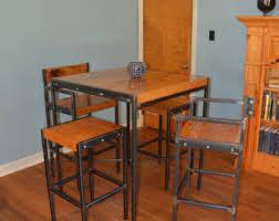 Industrial Bistro Table Industrial Stool Industrial Steel Reclaim Wood Reclaim
