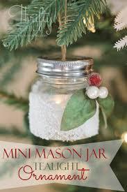 mini jar tea light ornament mini jars jar and ornament