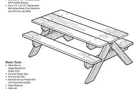 Plans For Picnic Table With Attached Benches by Plans For Picnic Table With Attached Benches