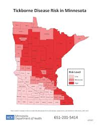 Map Of Minnesota Cities Lyme Disease In Minnesota Lyme Disease Areas Of Highest Risk
