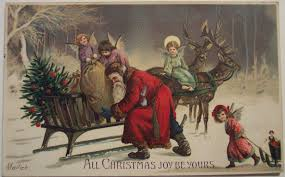 santa claus the spirit of christmas present