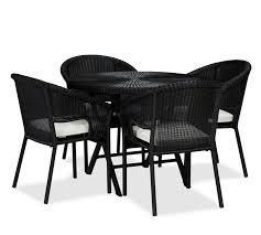 palmetto all weather wicker folding bistro table u0026 chair set