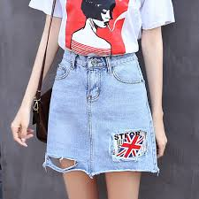 2017 new women fashion summer words and flag hollow out short thin