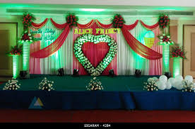 wedding reception decoration wedding reception decoration done at mass hotel pondicherry