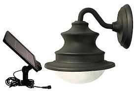 led barn light home depot gama sonic solar led gooseneck wall mount barn light the home
