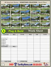 taylor all american modular home ranch hometown collection plan price