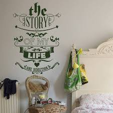 the story of my life wall sticker by wall art the story of my life wall sticker