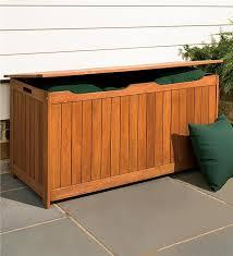solid eucalyptus outdoor storage box storage helpers