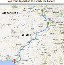 map of karachi karachi to islamabad by road pakistan travel forum