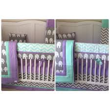 Lavender And Grey Crib Bedding Lavender Mint And Gray Baby Crib Bedding Bumperless Set