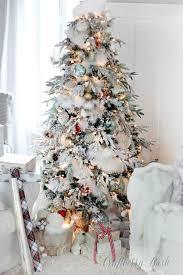 flocked christmas tree the flocked tree secret garland revealed