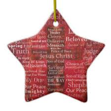 names of jesus ornaments keepsake ornaments zazzle