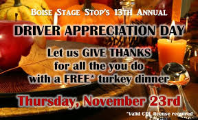 idaho truck stop offers free turkey dinner for cdl drivers cdllife