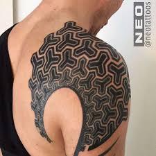 neo geometric tattoos 17
