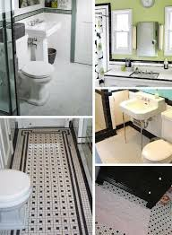 tile bathrooms black and white tile bathrooms done 6 different ways retro