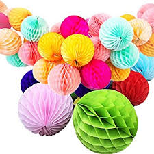 buy gifts honeycomb decoration balls set of 6