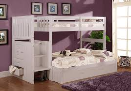 Solid Wood Bunk Beds With Trundle by Bunk Beds Bunk Beds With Trundle And Storage Twin Over Twin Bunk