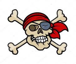 Halloween Skull Drawings Pirate Crossed Skull Tattoo Vector Cartoon Illustration U2014 Stock