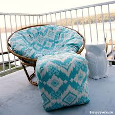 Poufs Ottoman How To Sew A Diy Pouf Ottoman Indoor Or Outdoor The Happy Housie