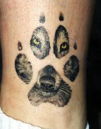 wolf paw and wolf cool tattoos