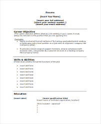 Resume Template With Picture Insert Referee Resume Template 7 Free Word Pdf Document Downloads