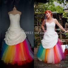 rainbow wedding dress naf dresses