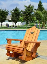 Wooden Rocking Chairs by Redwood Adirondack Rocking Chair Durable Wooden Rocker