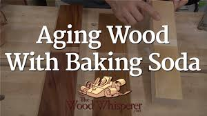 How To Lighten Stained Wood by 223 Aging Wood With Baking Soda The Wood Whisperer