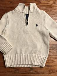 polo ralph lauren toddler boys size 2t long sleeve off white