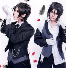 Halloween Butler Costume Japan Anime Kuroshitsuji Black Butler Sebastian Michaelis