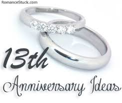 13th anniversary ideas a complete list of traditional 13th anniversary gifts and modern
