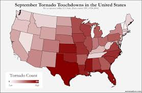 Midwest United States Map by Here U0027s Where Tornadoes Typically Form In September Across The