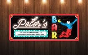Man Cave Wall Decor Good Friends Good Times Personalized Sports Bar Sign For Any Team