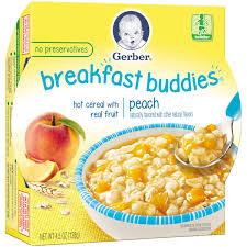 Breakfast Food Cereal Walmart Com by Gerber Graduates Breakfast Buddies Peach Cereal With Fruit 4 5 Oz