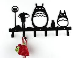 amazon com yournelo metal cute totoro wall mounted coat rack 6 amazon com yournelo metal cute totoro wall mounted coat rack 6 hooks office products