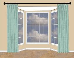 Curtain Rods Either Side Window When There S Wall Space On Either Side Of The Bay Window Hang