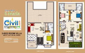 Pakistan House Designs Floor Plans 6 Marla House Plan Civil Engineers Pk