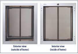 installing pet door in glass door can i put a dog door through the wall