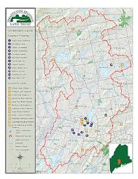 Map Me Conserved Land Map Sebasticook Regional Land Trust