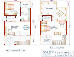 Square Foot House Plans Home Design Sq Ft Plan With Car Parking 1 Bhk Duplex House Plans