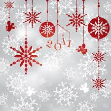 christmas background with hanging snowflakes angels and balls