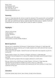 forever 21 sales associate cover letter