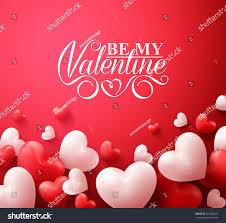 realistic 3d colorful romantic valentine hearts stock vector