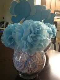 baby shower centerpieces ideas for boys light blue elephant centerpieces stick elephant baby shower