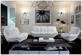 White Leather Living Room Furniture White Living Room Furniture Discoverskylark