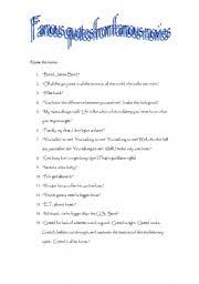 esl worksheets for adults famous movie quotes