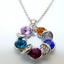 purple necklace pendant images Multicolored moon pendant necklace fashion style turquoise jpg