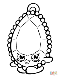 chelsea charm shopkin coloring page free printable coloring pages