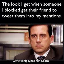 Website Meme - funny hilarious blocked twitter user meme toni payne official