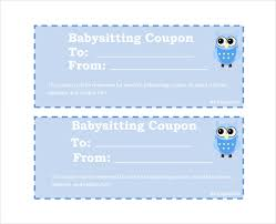 10 baby sitting coupon templates u2013 free sample example format